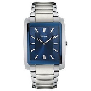 Bulova Men's Stainless Steel Bracelet Watch 45x35mm 96A169