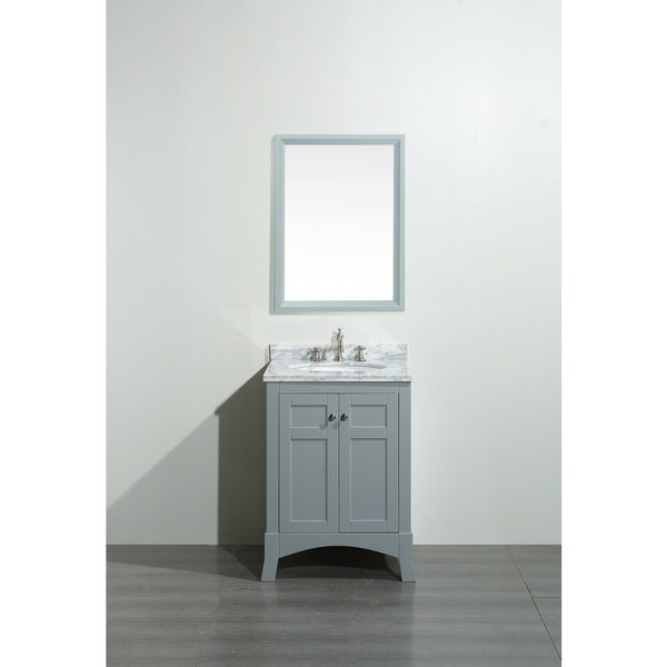 Grey And White Marble Bathroom: Shop Eviva New York 24 Inch Grey Bathroom Vanity With