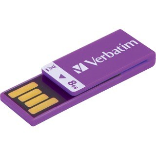 Verbatim 8GB Clip-It USB Flash Drive - Violet