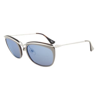 Persol PO3081S 1008/17 Sunglasses in Grey and Matte Havana Frame and Grey Mirror Blue Lenses