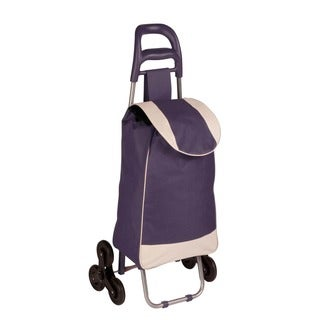 bag cart with tri-wheels, plum