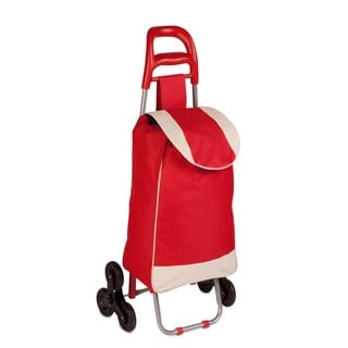 Honey-Can-Do bag cart with tri-wheels, red