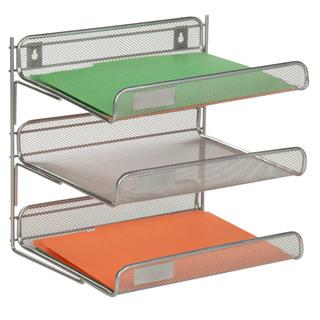 3-tier desk organizer, silver