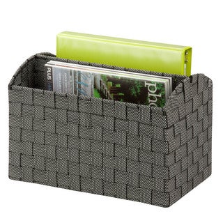 Woven Document Carrying Tote, salt&pepper
