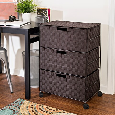 Honey-Can-Do 3-Drawer Chest with Wheels
