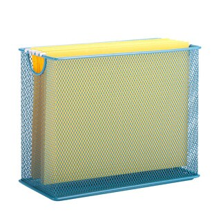 Honey-Can-Do table top hanging file organizer, blue