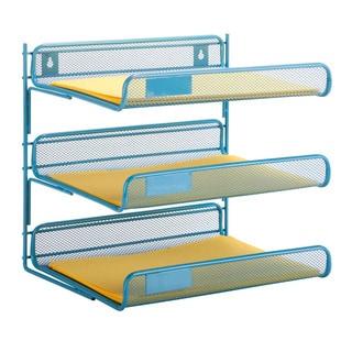 3-tier desk organizer, blue