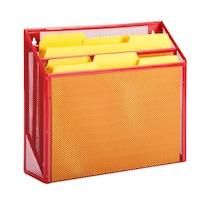 Honey-Can-Do vertical file sorter, red