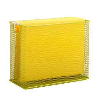 Honey-Can-Do table top hanging file organizer, lime