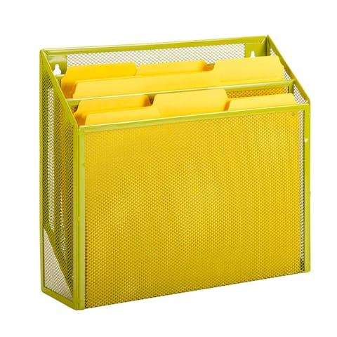 Honey-Can-Do vertical file sorter, lime