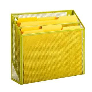 vertical file sorter, lime
