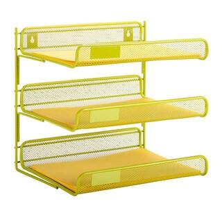 3-tier desk organizer, lime