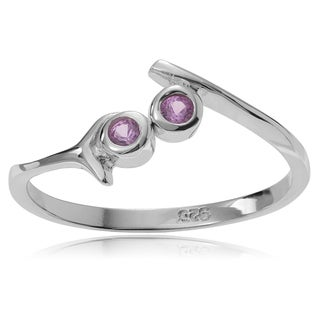 Journee Collection Sterling Silver Cubic Zirconia Open Toe Ring