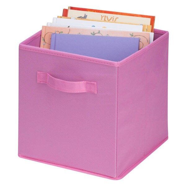 Honey-Can-Do 4-pack non-woven foldable cube- pink