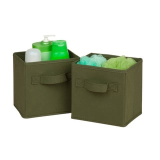 6-pack mini non-woven foldable cube- green