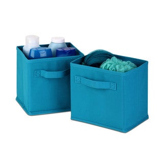 6-pack mini non-woven foldable cube- aqua