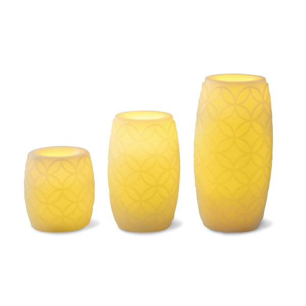 Apothecary & Company 3-piece LED Candle Set with Daily Timer