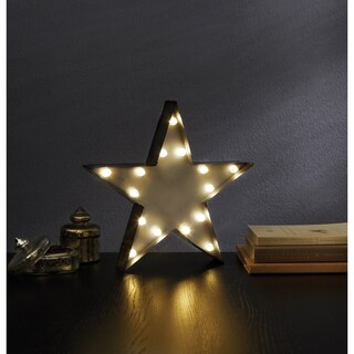 Apothecary & Company Metal 13-inch Marquee Sign with LED Star Symbol