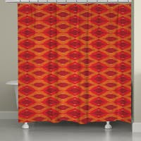 Laural Home Ikat Orange Shower Curtain (71-inch x 74-inch)
