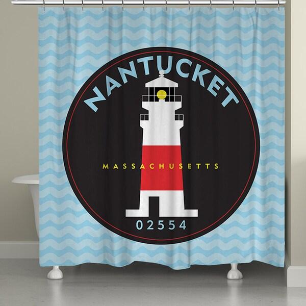 Laural Home Nantucket Beach II Shower Curtain (71-inch x 74-inch)