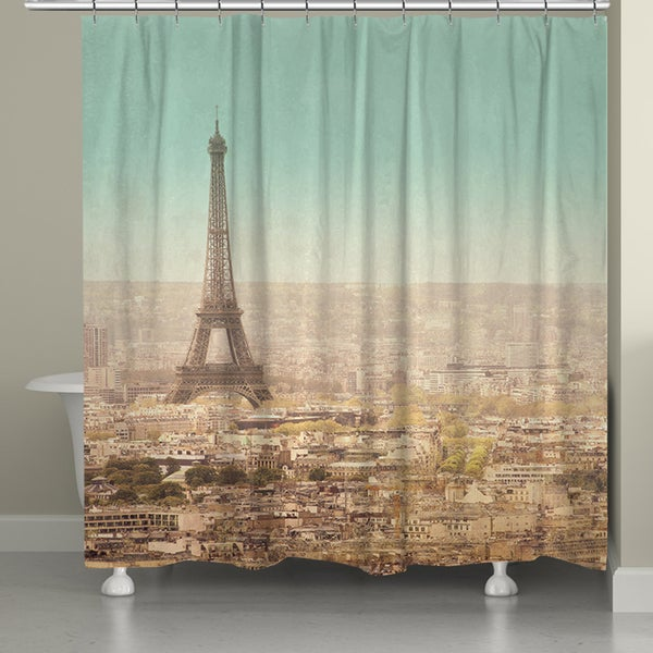 Laural Home Parisian Landscape Shower Curtain (71-inch x 74-inch)