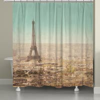 Laural Home Parisian Landscape Shower Curtain (71-inch x 74-inch)