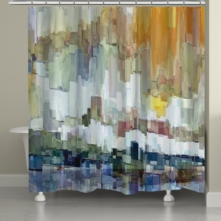 Laural Home Abstract Brushstrokes Shower Curtain (71 Inch X 74 Inch)