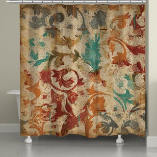 Laural Home Abstract Floral Shower Curtain (71-inch x 74-inch)