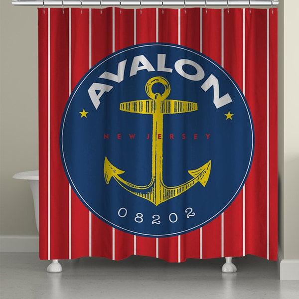 Laural Home Avalon Beach I Shower Curtain (71-inch x 74-inch)