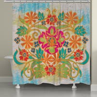 Laural Home Bohemian Floral Design Shower Curtain (71-inch x 74-inch)