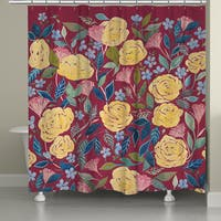 Laural Home Bountiful Blossoms Shower Curtain (71-inch x 74-inch)