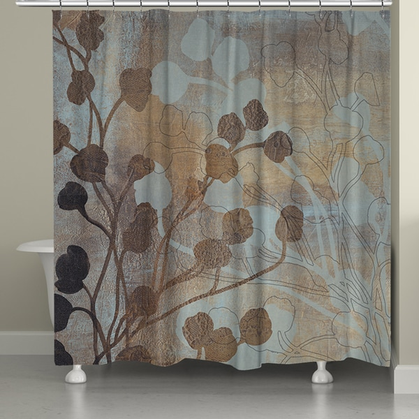 Shop Laural Home Bronze Gold Spa Shower Curtain 71 Inch X