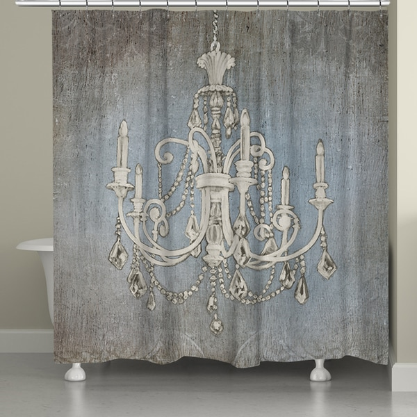 Laural Home Chandelier Lights Shower Curtain (71-inch x 74-inch)