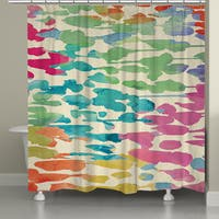Laural Home Colorful Splashes Shower Curtain (71-inch x 74-inch)