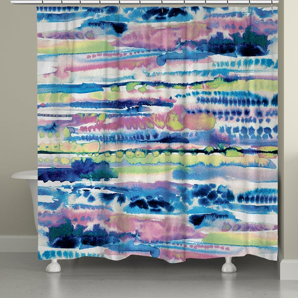 Laural Home Colorful Watercolor Shower Curtain (71-inch x 74-inch)