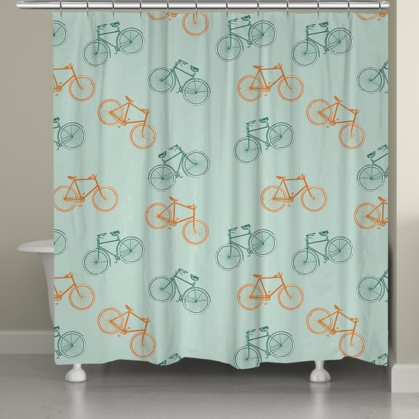 Shop Laural Home European Bike Ride Shower Curtain 71 Inch X 74
