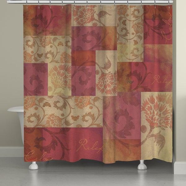 Laural Home Floral Patchwork Shower Curtain (71-inch x 74-inch)