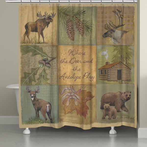Laural Home Home on the Range Shower Curtain (71-inch x 74-inch)