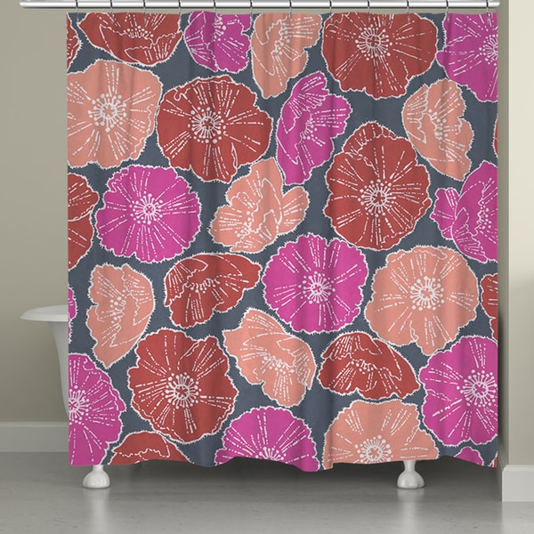 Laural Home Icelandic Poppies Shower Curtain 71 Inch X 74