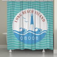 Laural Home LBI Beach Shower Curtain (71-inch x 74-inch)