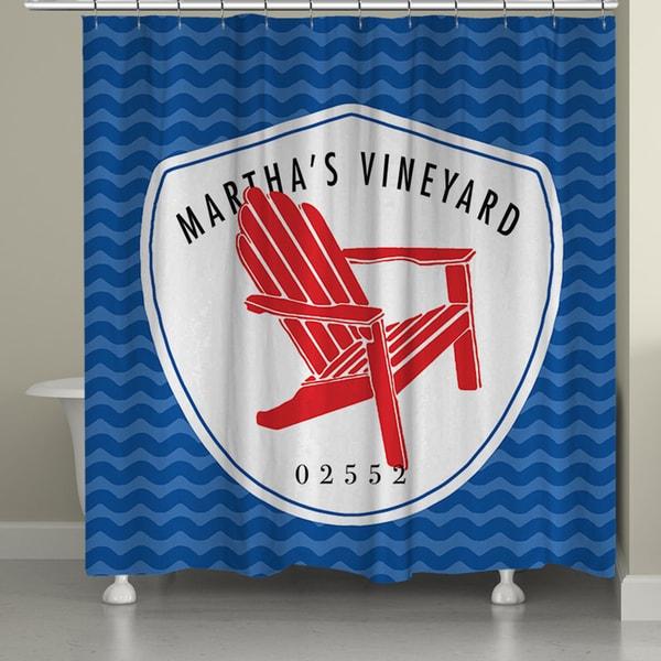 Laural Home Martha's Vineyard Beach I Shower Curtain (71-inch x 74-inch)