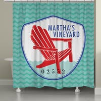 Laural Home Martha's Vineyard Beach II Shower Curtain (71-inch x 74-inch)