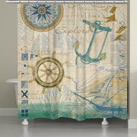 Laural Home Nautical Journey 71 x 72-inch Shower Curtain