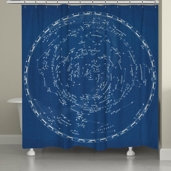 Laural Home Night Constellations Shower Curtain (71-inch x 74-inch)