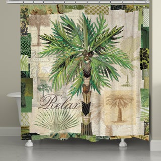 Laural Home Palm Beauty 71 x 72-inch Shower Curtain