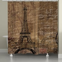 Laural Home Paris Adventure Shower Curtain (71-inch x 74-inch)