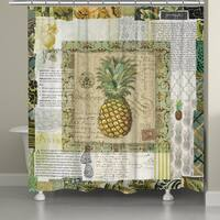 Laural Home Pineapple Beauty 71 x 72-inch Shower Curtain