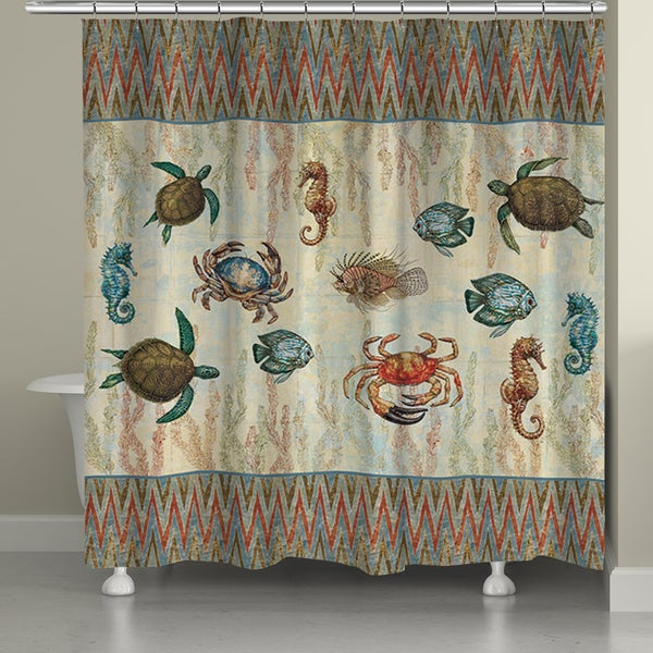 Laural Home Under the Sea Shower Curtain (71-inch x 74-inch)