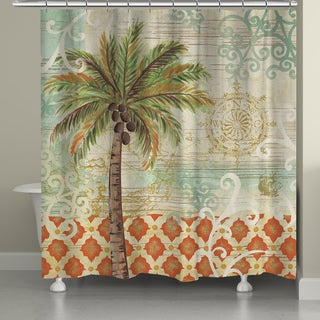 Laural Home Vintage Palm 71 x 72-inch Shower Curtain