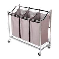 StorageManiac 3-section Heavy Duty Laundry Hamper Sorter